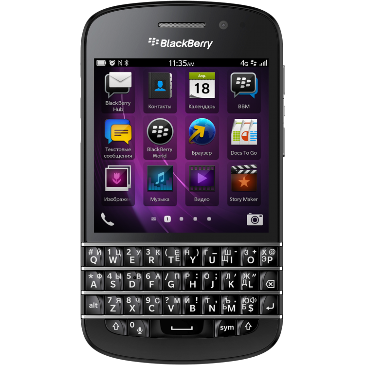 BlackBerry Q10 Black 4G LTE