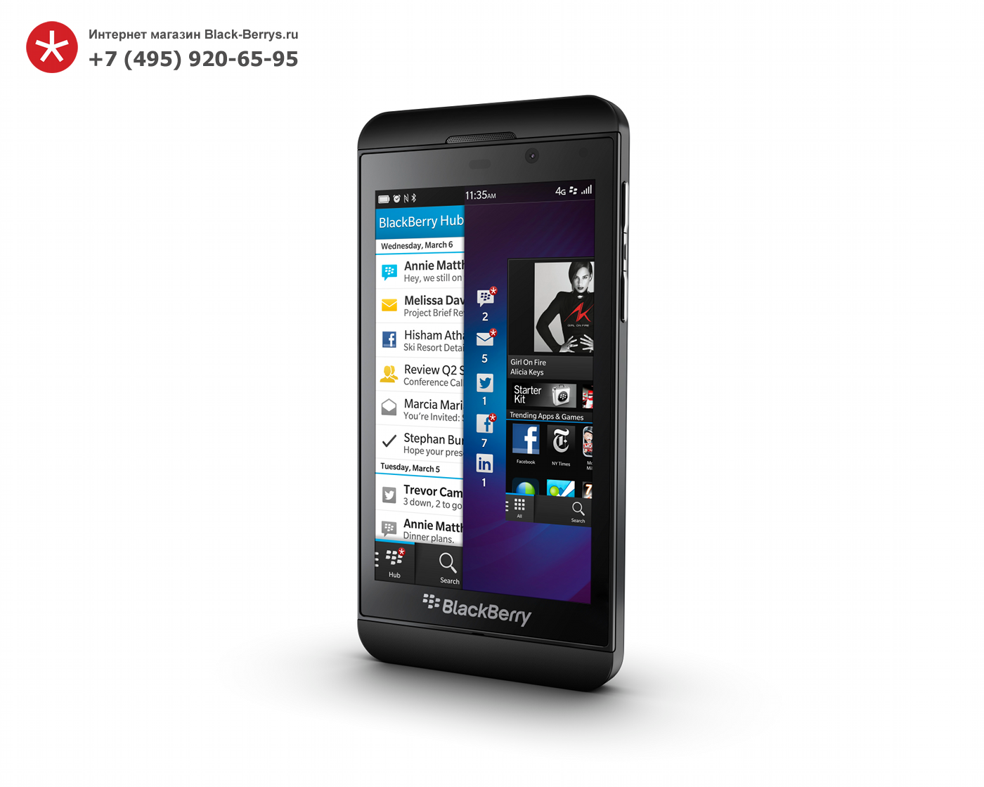 BlackBerry Z10 Black 3G